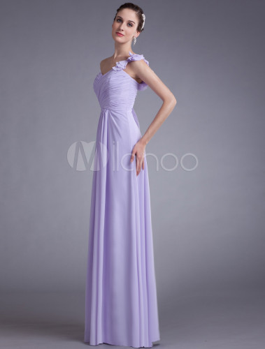 Vestidos de dama de honor lila