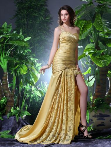 Abendkleid in golden milanoo - Milanoo abendkleider ...