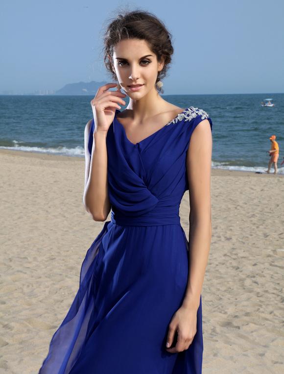 Vestidos de damas de honor azul petroleo