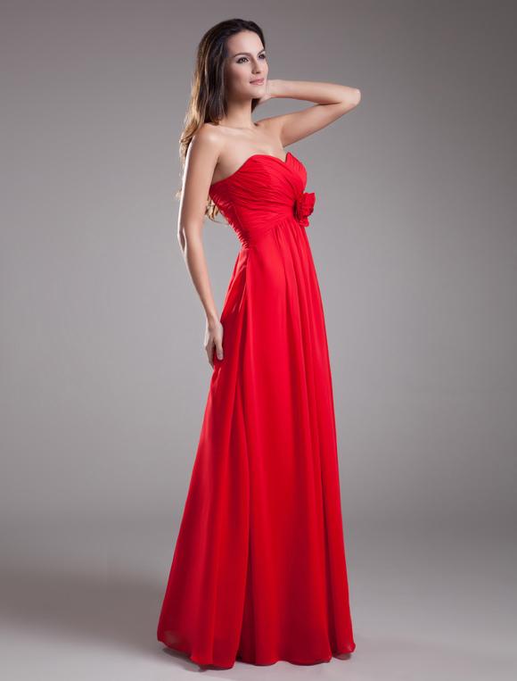 Robe de fille d'honneur rouge