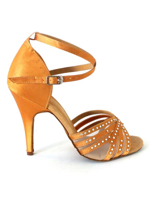 Zapatos de bailes latinos de seda y satén zapatos de salsa j7dOSqeC