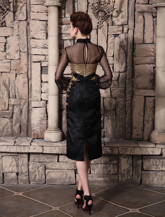 Cocktailkleid aus organza in schwarz kleider f r - Kleider milanoo ...