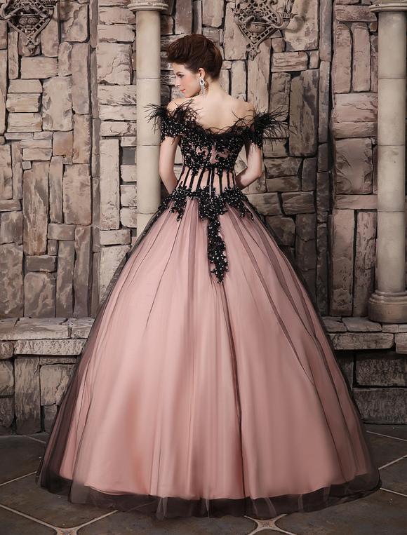 Prom-Kleid aus Tüll in Rosa Milanoo - Milanoo.com