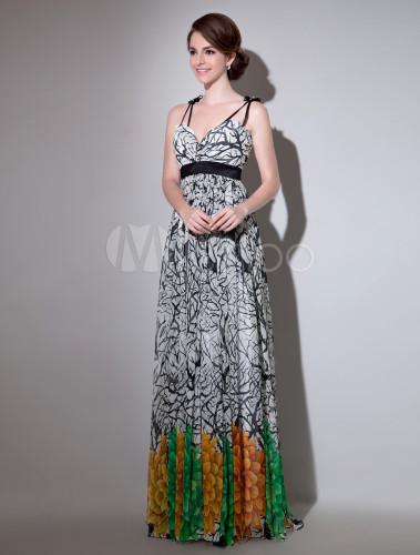 Abendkleid aus Chiffon mit Printmuster Milanoo - Milanoo.com d9f3aa3ed8