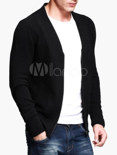 schwarze herren strickjacke mit v ausschnitt und. Black Bedroom Furniture Sets. Home Design Ideas