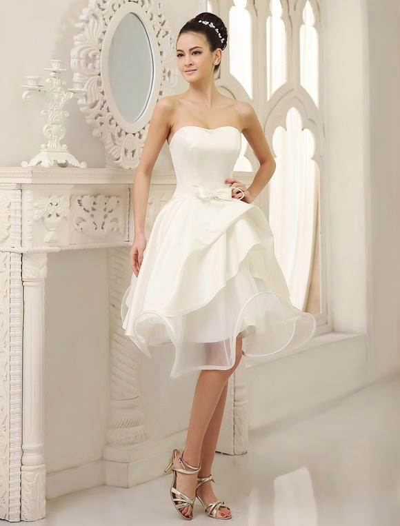 ivory wedding dress strapless pleated satin wedding gown With robe de ceremonie avec promotion alliance mariage