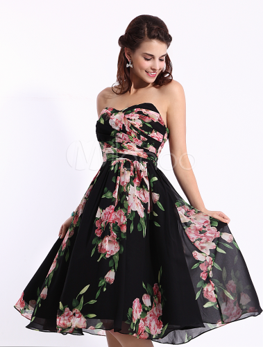 black floral print dress in knee length inspired by ariana grande at the grammys 2014. Black Bedroom Furniture Sets. Home Design Ideas