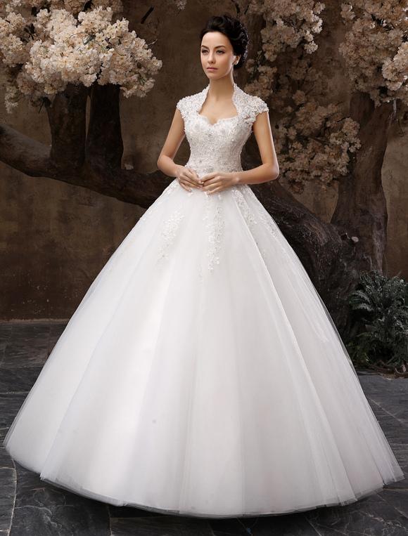 Robe de mariée princesse paillettes dos nu
