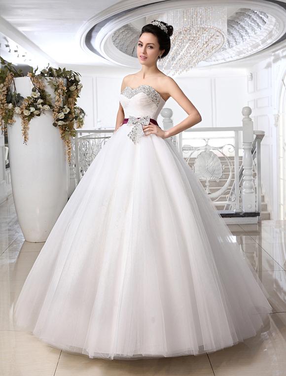 Vestido de novia blanco diamante