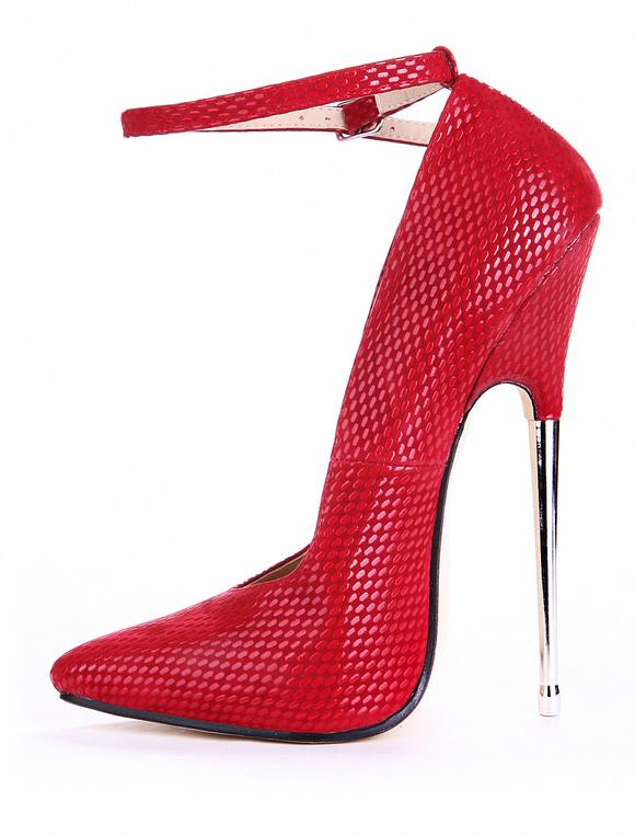 ... Serpent rouge bout pointu imprimer Sexy High Heels PU cuir féminin  -No.2 ...