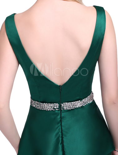 92bfa7e4463c ... Dark Green Dress For Mother of the Bride with Sheath Off-The-Shoulder  Satin. 12