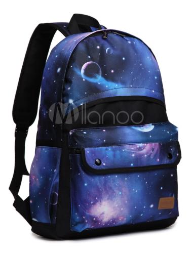 Mochila Con Estampado De Galaxia Milanoo Com