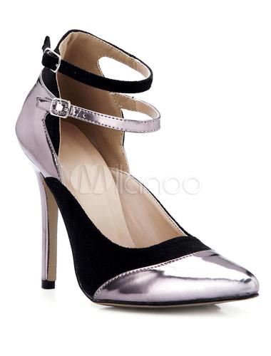 Zapatos puntiagudos de satén elástico de color bronce z9Ls4f