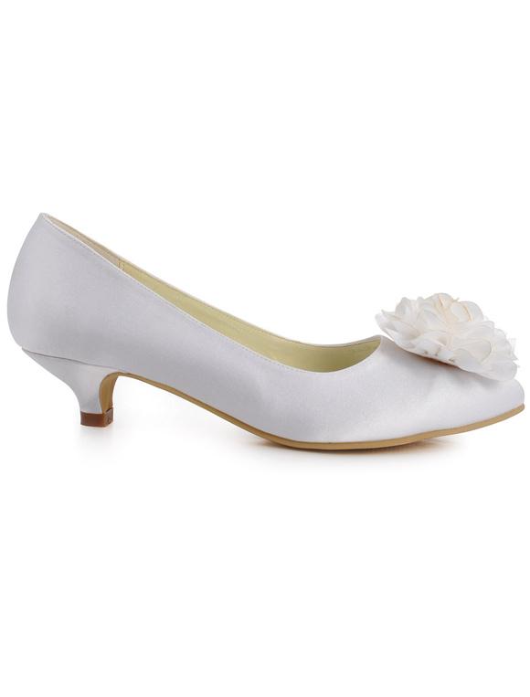 ... Fleur Design Antique d'amande Toe soie et Satin femmes chaussures de  soirée - ...
