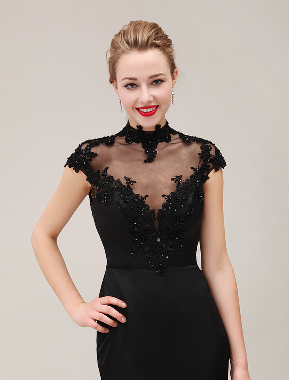 Abendkleid mit schleppe in schwarz kleider f r - Kleider milanoo ...