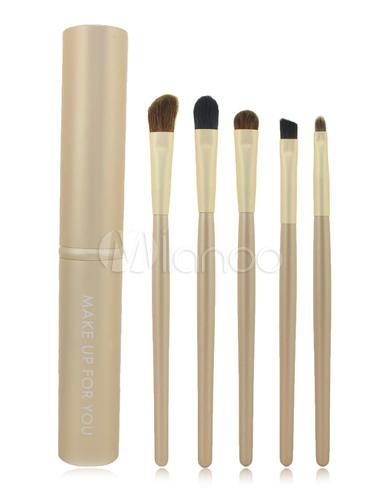 Milanoo / Chic Gold Portable Makeup Brush Sets For Women