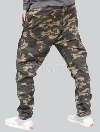Pantalons hip,hop style sarouel vert forêt de camouflage ,No.5