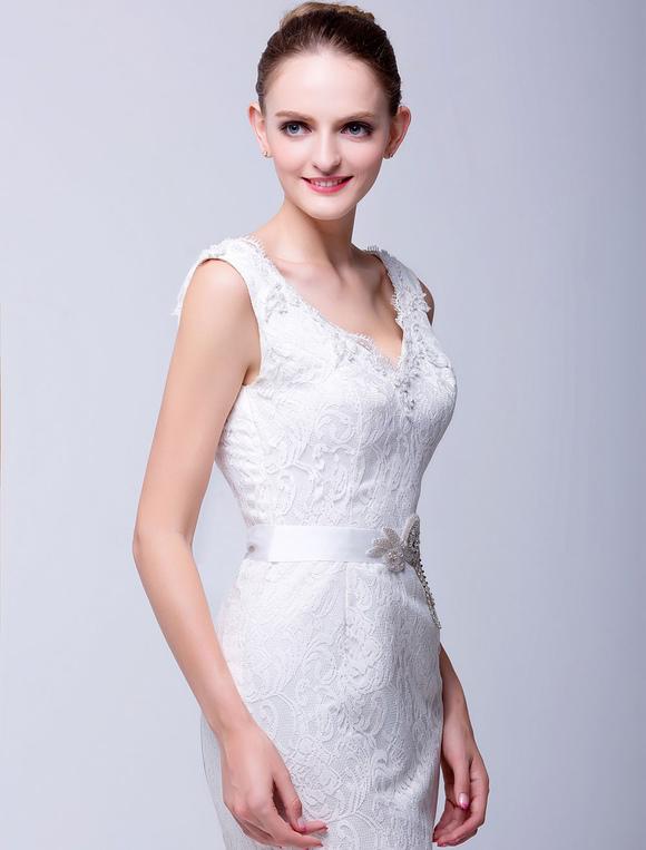 cinturones para vestidos de novia con pedrería - milanoo