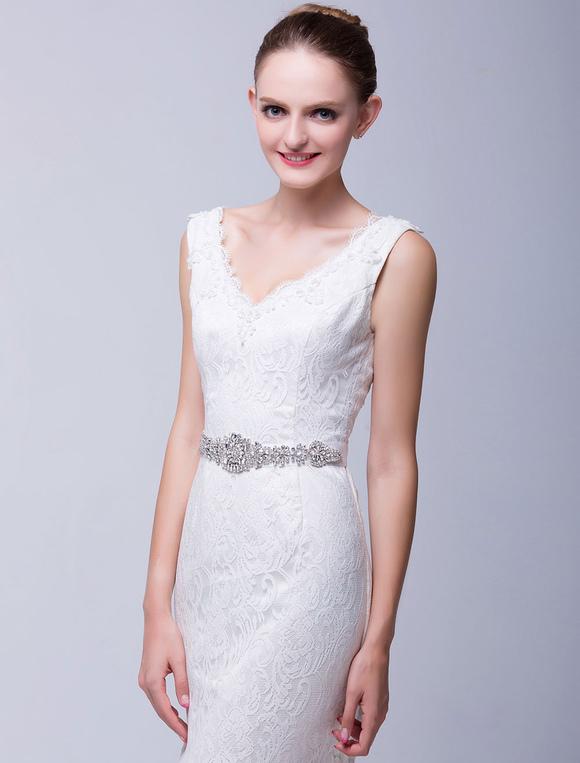 Cinturones para vestidos de novia con pedrería - Milanoo.com 00f7712d96e9