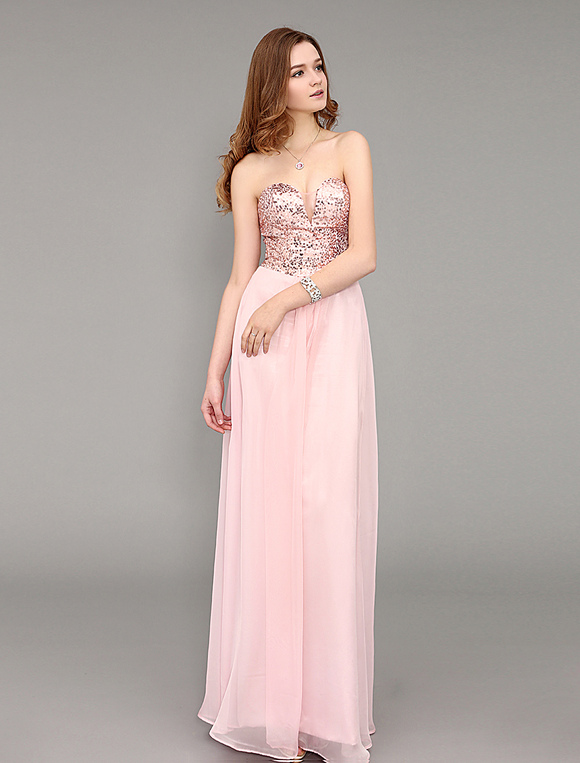 0098b6d81 Vestido de fiesta rosa con escote de hombros caídos - Milanoo.com
