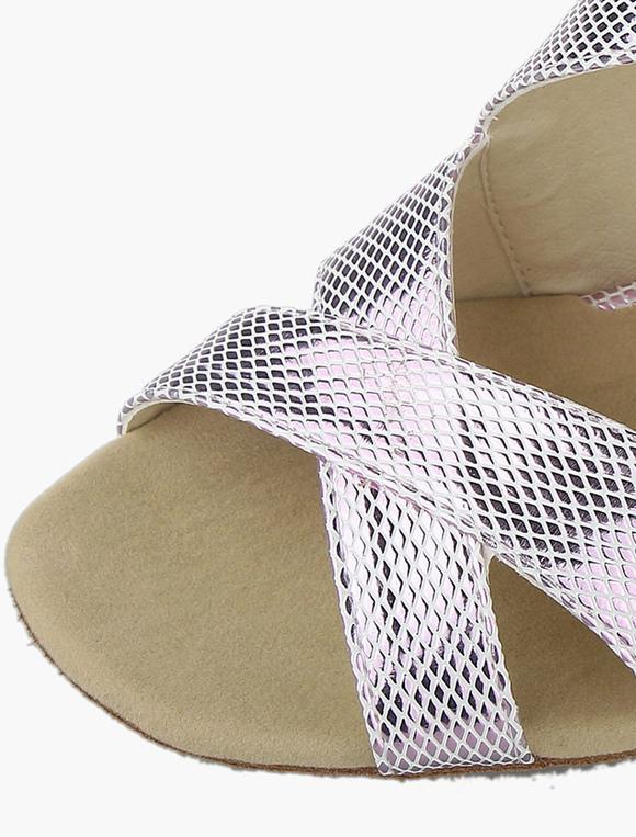 Matrimonio Romano Versione Latino : Argento stile romano svasato latino scarpe tacco milanoo