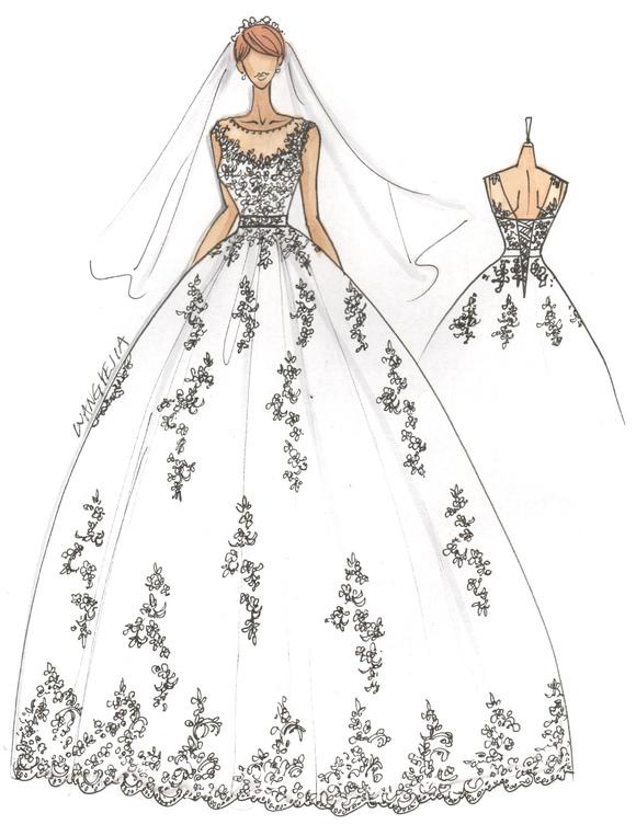 Robes de Mariée Blanc Illusion Cou Robe De Mariée Dentelle Applique  Perlée Sash Robe De Mariée