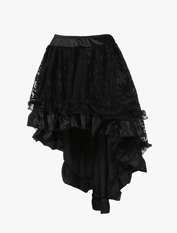 0f955926d 1950s Vintage Petticoat Tutu Crinoline falda negra alta falda baja para la  mujer