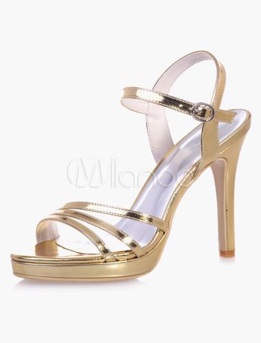 Plata Tacón Zapatos Bajo Sandalias De Novia Fiesta WHDE9eIb2Y