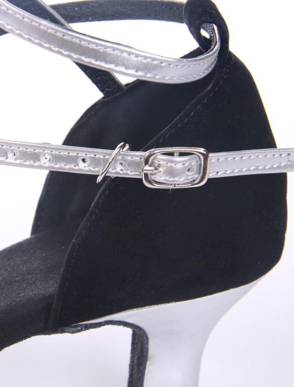 Zapatos de baile 2018 Bicolor negro Peep ante Micro suela suave con estilo de salón superior zapatos TTIRwFZ2qx