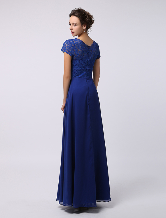 42e4b5ba5622 ... Elegante Abito pizzo maniche vestito bellissimo per la madre della sposa  -No.4 ...