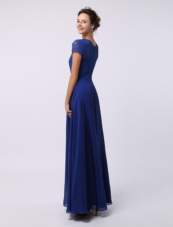 48ec089e1c6b ... Elegante Abito pizzo maniche vestito bellissimo per la madre della sposa  -No.3 ...
