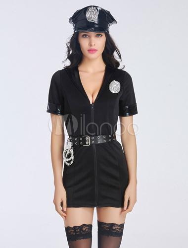 black polyester bedroom costume for women  milanoo