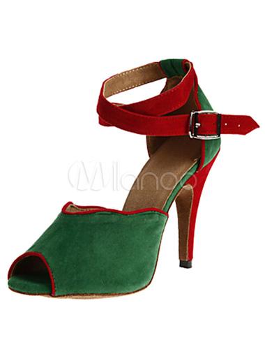 Envío gratis con Mastercard Danza dos tonos sandalias Peep Toe ante tacones para las mujeres Precio barato de Amazon Finishline de venta Compre una vista económica nWvn1biOlX