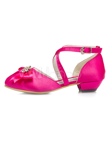 Fuchsia flower girl shoes bow cross straps satin shoes milanoo fuchsia flower girl shoes bow cross straps satin shoes no3 mightylinksfo