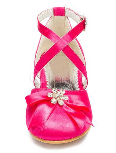 Fuschia Flower Girl Shoes