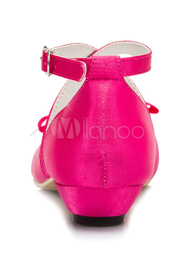 Fuchsia flower girl shoes bow cross straps satin shoes milanoo fuchsia flower girl shoes bow cross straps satin shoes no4 mightylinksfo