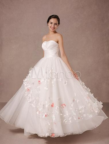 vestido de novia de organza de raso vestido de novia vestido milanoo