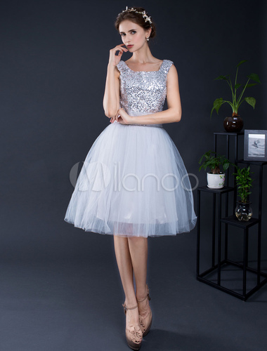 Kurze Prom Kleid Tüll Homecoming Kleid knielang Lace-Up Graduierung ...