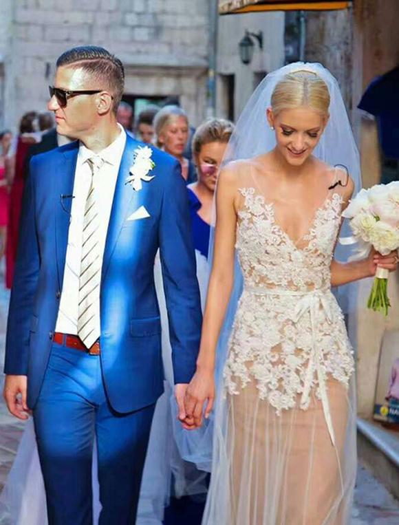 Boho Hochzeit Kleid Nude Tüll Brautkleid rückenfreie a-line Gericht ...