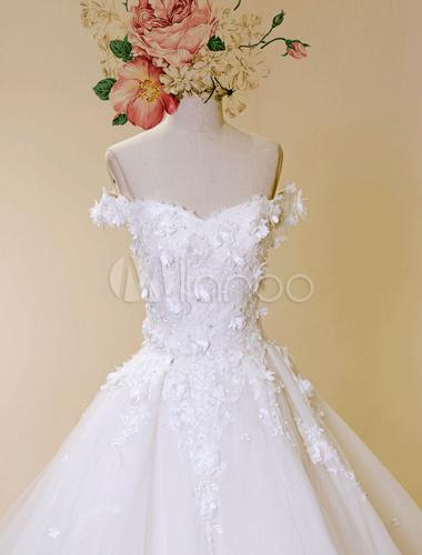 catedral tren boda vestido princesa tul encaje apliques vestido de