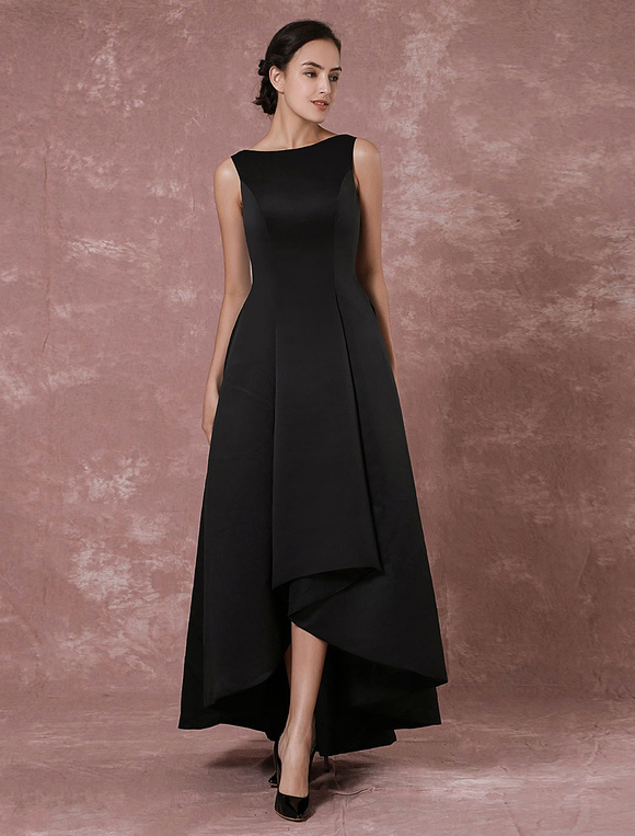 292fddc9fa030 ... Robe de soirée 2019 Black Prom robes 2019 Long Backless robe de soirée  taffetas haute basse ...