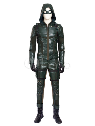 Carnevale Arrow Season 5 Green Arrow Oliver Queen Costume cosplay di Halloween 2020