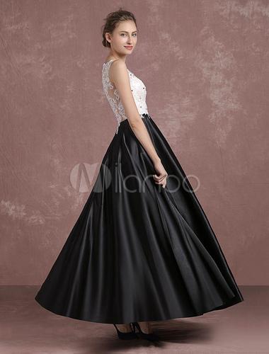 ce5fbe257e ... vestidos de gala negro con escote barco sin mangas con cuentas -No.3 ...