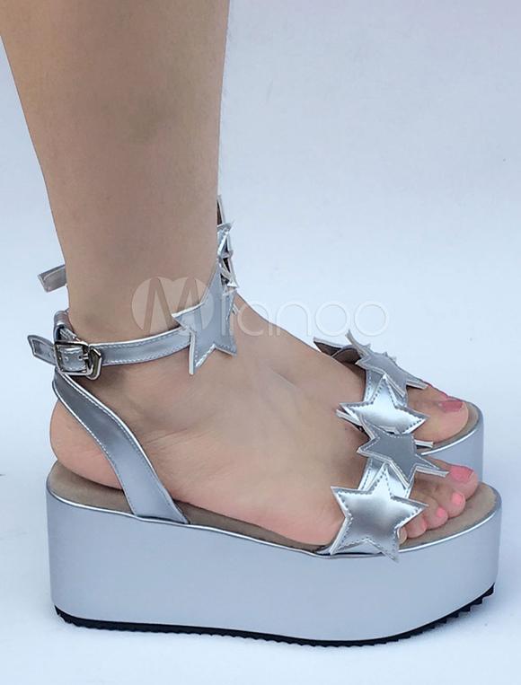 Zapatos de lolita plateados o22bTj