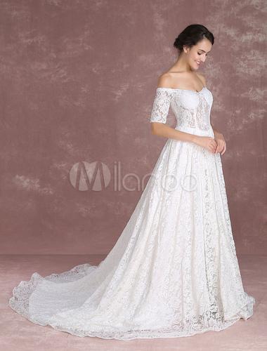 Vestidos de novia con tirantes caidos