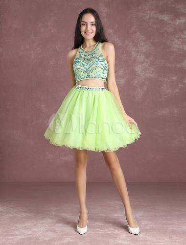 Neon Green Short Dresses