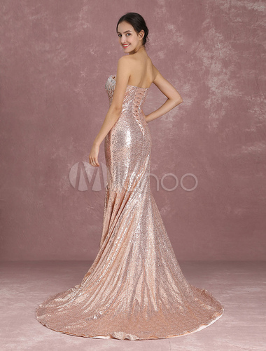4c79fa3b7 ... Vestido de gala para festa formal Com Cauda decote V em coração sem  mangas Lace up ...