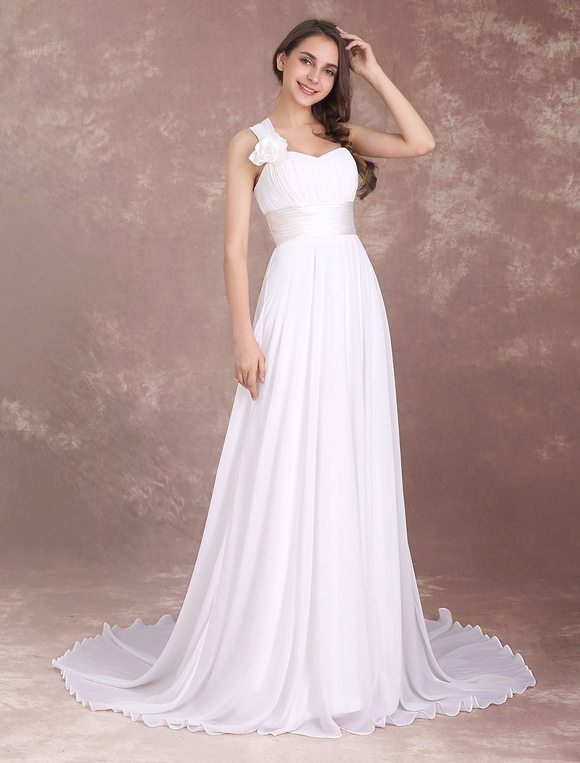 One Shoulder Beach Wedding Dresses