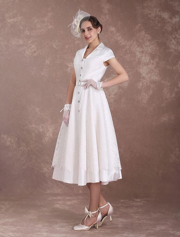 Vintage brautkleid a linie in elfenbeinfarbe - Kleider milanoo ...