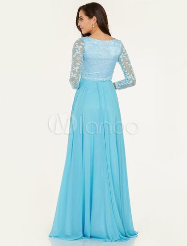 Aqua Chiffon Gown